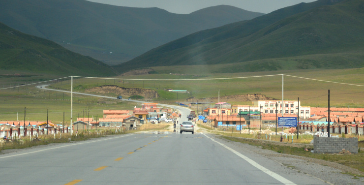 Tibet: One of many new towns where Tibetan nomads spend the harsh winter months.