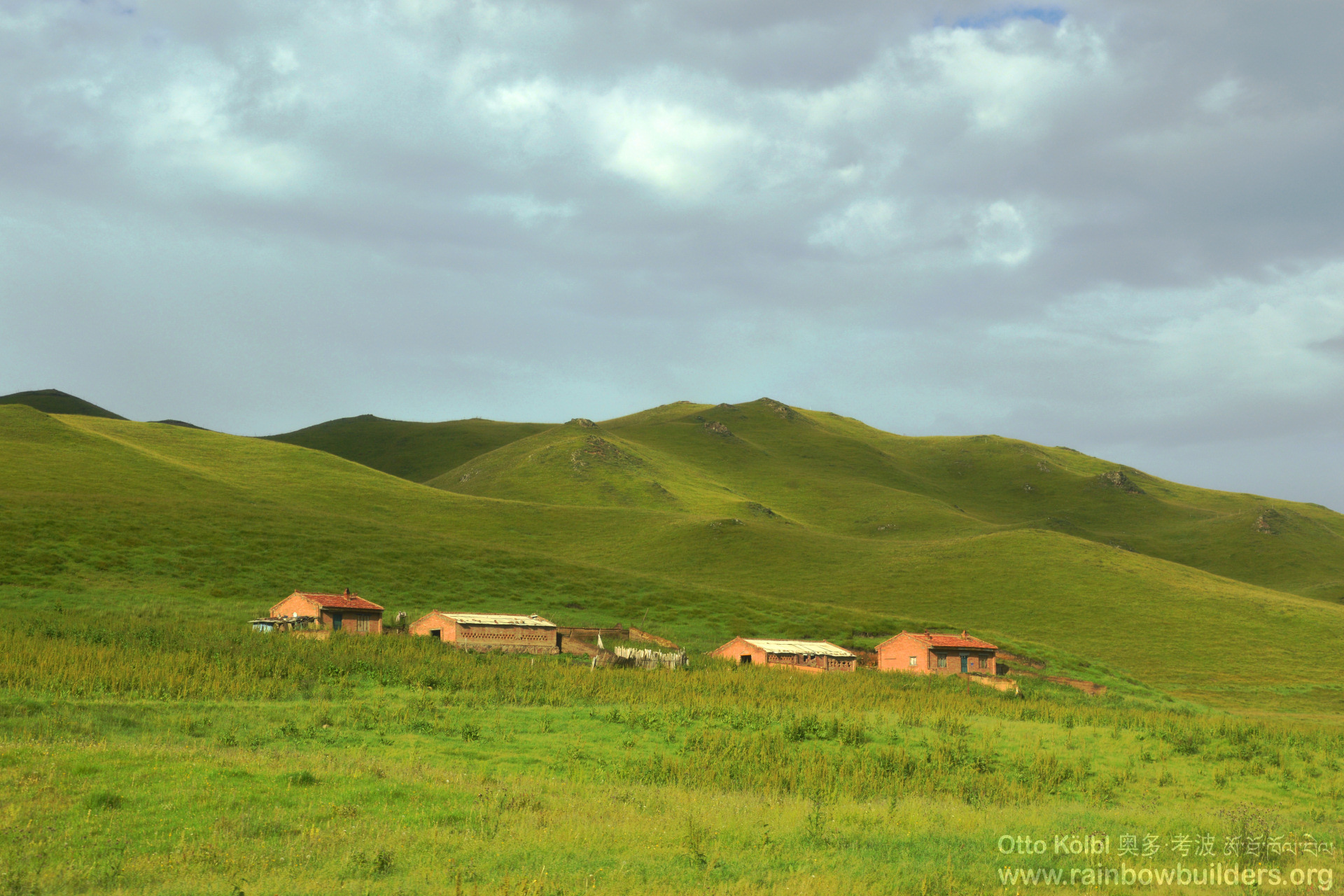 In the past, most herders lived in tents the whole year round; others lived in this kind of houses.