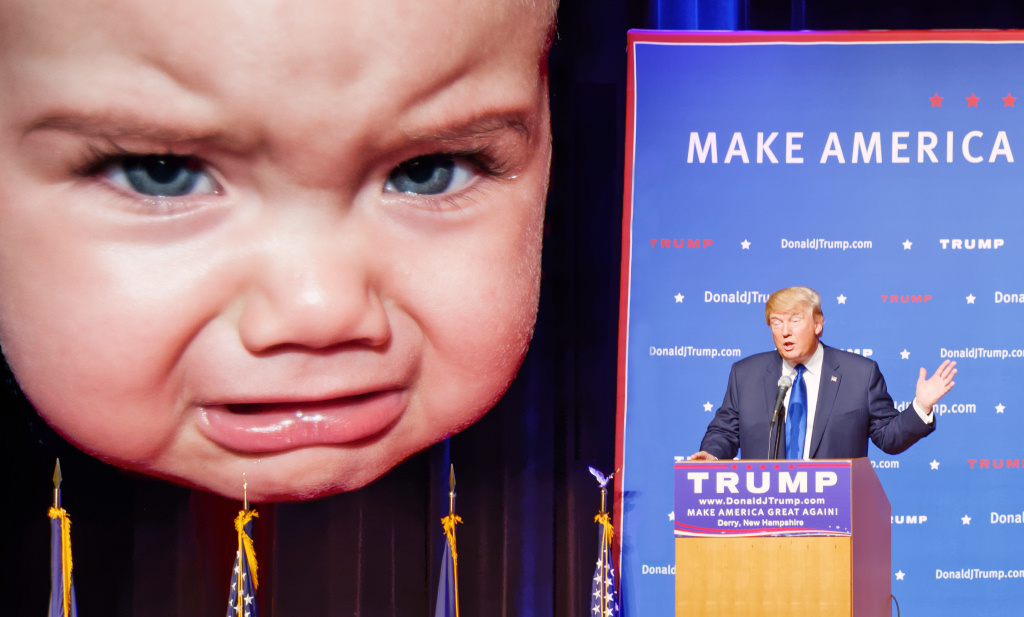 Donald Trump and an angry baby