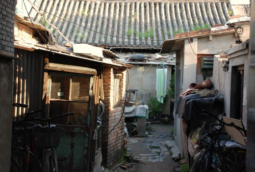 Hutong, i.e. old residential houses, in Beijing, China.