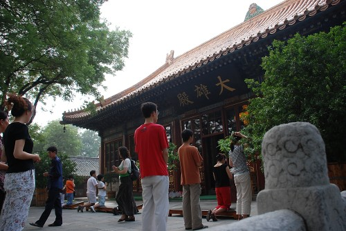 A bouddhist temple in Beijing, China, which has been carefully restored.