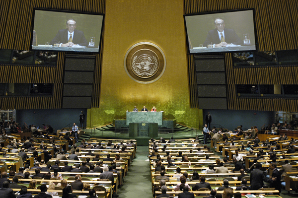The UN General Assembly (here in its 60th session in 2005) has voted all the fundamental texts in the fields of international law and human rights. Photo: United Nations.
